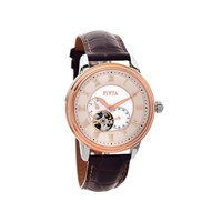 Fiyta WGA8170.MWR Two Tone Automatic Brown Leather Strap Watch - W4949