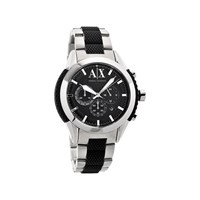 Armani Exchange AX1214 Stainless Steel Black Chronograph Bracelet Watch - W6208