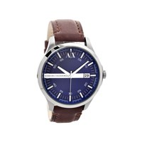 Armani Exchange AX2133 Stainless Steel Brown Leather Strap Watch - W6229