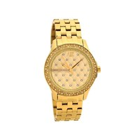 Armani Exchange AX5216 Gold Plated Stone Set Bracelet Watch - W6298