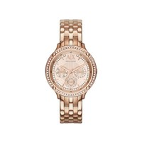 Armani Exchange AX5406 Rose Gold Plated Stone Set Bracelet Watch - W6511