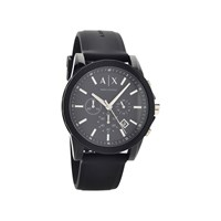 Armani Exchange AX1326 Chronograph Black Silicon Strap Watch - W6540