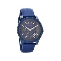 Armani Exchange AX1327 Chronograph Blue Silicon Strap Watch - W6541