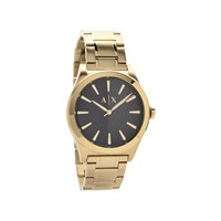 Armani Exchange AX2328 Gold Plated Black Dial Bracelet Watch - W6553