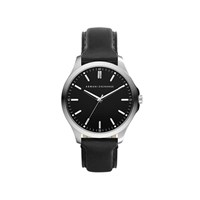 Armani Exchange AX2149 Stainless Steel Black Leather Strap Watch - W6555