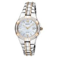 Seiko SUT068P9 Two Tone Solar Diamond Set Bracelet Watch - W7988