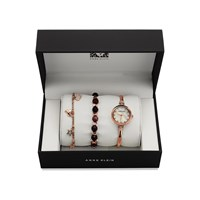 Anne Klein AK/N2840RJAS Rose Gold Plated Watch And Bracelets Gift Set - W8076