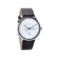 Ted Baker TE10023491 James Stainless Steel Black Leather Strap Watch - W8259