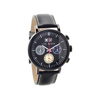 Ted Baker ITE10023471 Black Ionic Plated Chronograph Black Leather Strap Watch - W8290