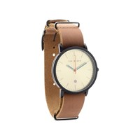 Ted Baker TE10026443 Black Ion Plated Tan Leather Strap Watch - W8293