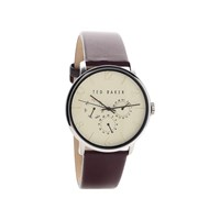 Ted Baker TE10029568 Multi Dial Burgundy Strap Watch - W8295