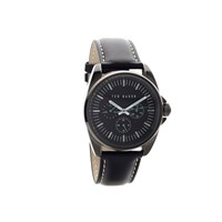 Ted Baker TE10025262 Black Ion Plated Black Dial Leather Strap Watch - W8297