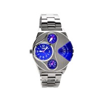 Storm 47246/B V2 Navigator Lazer Blue Stainless Steel Bracelet Watch - W87121