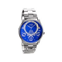 Storm 47228B Mechron Lazer Stainless Steel Blue Dial Bracelet Watch - W8732