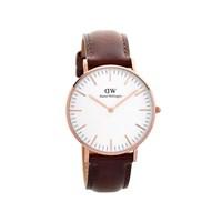 Daniel Wellington 0507DW St Andrews Brown Leather Strap Watch - W8819