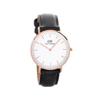 Daniel Wellington 0508DW Sheffield Black Leather Strap Watch - W8820