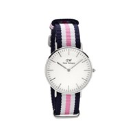 Daniel Wellington 0605DW Southampton Blue, White And Pink Fabric Strap Watch - W8845