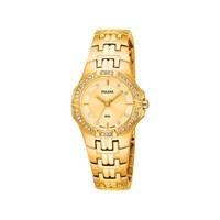 Pulsar PTC390X1 Gold Plated Stone Set Bracelet Watch - W9302