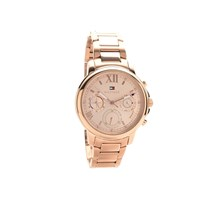 Tommy Hilfiger 1781743 Claudia Rose Gold Plated Chronograph Bracelet Watch - W9548