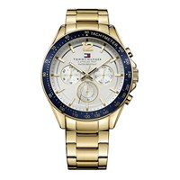 Tommy Hilfiger 51791121 Luke Gold Plated Chronograph Bracelet Watch - W9564