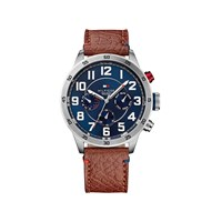 Tommy Hilfiger 51791066 Trent Stainless Steel Brown Leather Strap Watch - W9569