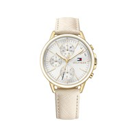 Tommy Hilfiger 1781790 Carly Gold Plated Chronograph Leather Strap Watch - W9587
