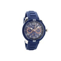Guess Tread Navy Blue Resin Strap Watch - W96109