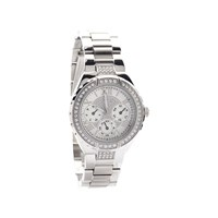 Guess W0111L1 Viva Stainless Steel Stone Set Bracelet Watch - W9808