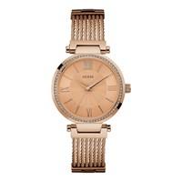 Guess W0638L4 Soho Rose Gold Plated Bangle/Bracelet Watch - W9871