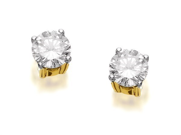 18ct Gold Diamond Solitaire Earrings - 1/2ct per pair - D4547