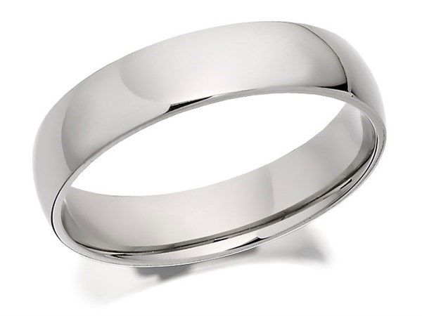 Palladium 500 Heavyweight Court Wedding Ring - 6mm - Size Z+5 Only - Z50102