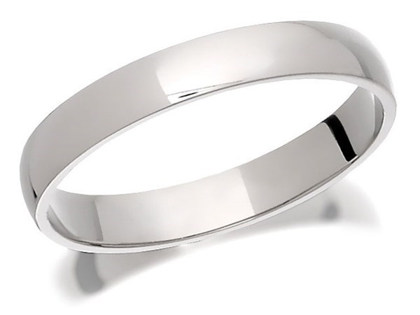 Palladium 500 Court Wedding Ring - 4mm - Size V Only - Z50439