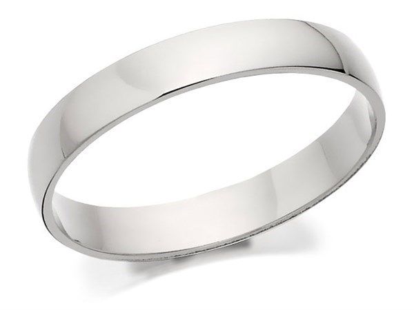Palladium 500 D Shaped Wedding Ring - 3mm - Size U Only - Z50441
