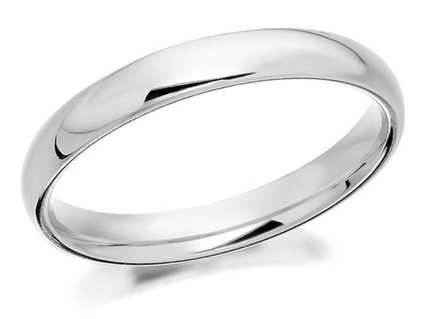 9ct White Gold Extra Heavyweight Court Wedding Ring - 4mm - Size X Only - Z50508
