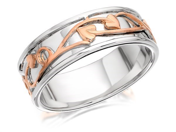 Clogau Silver And 9ct Rose Gold Tree Of Life Ring - 8mm - Size Y Only - Z5071