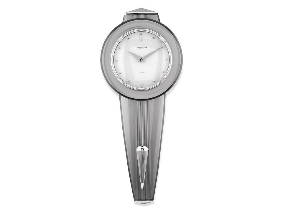 London Clock Silver Tone Pendulum Wall Clock C5746 F