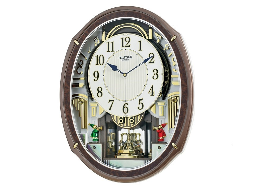 Rhythm 4mh423wr23 Harmony Blessing Musical Wall Clock