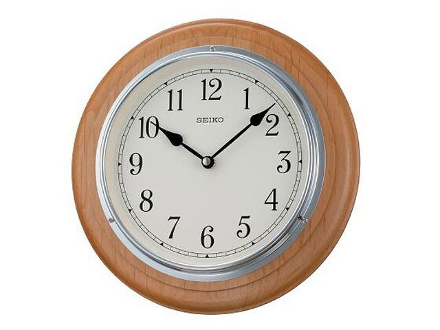 Seiko Wooden Wall Clock C5946 F Hinds Jewellers