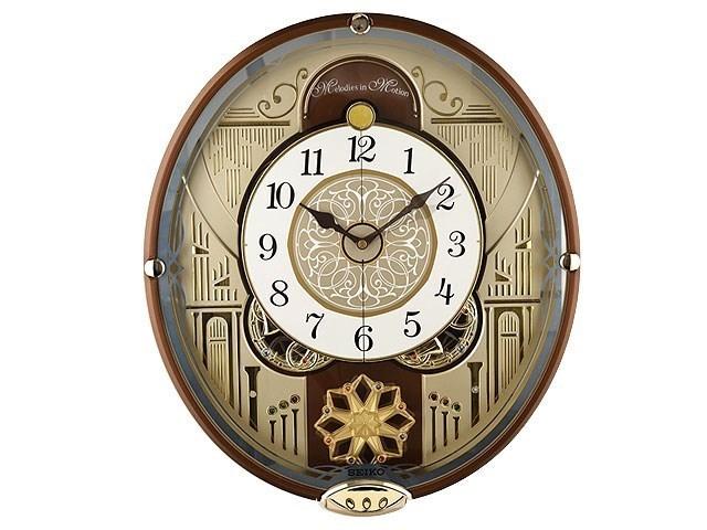 Seiko Qxm277brh Melodies In Motion Wall Clock C5992 F