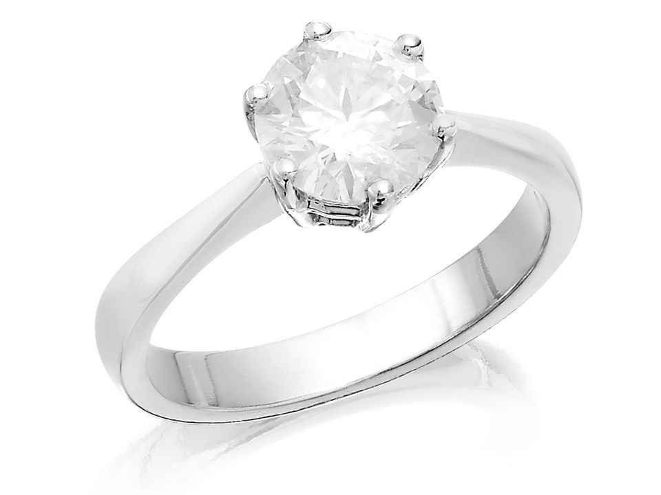 Platinum 1.5 Carat Diamond Solitaire Ring - Certificated - D0849  d82ad60b6