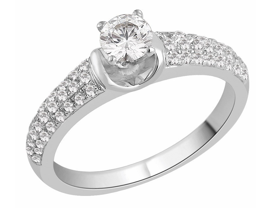the bridal suite 18ct white gold engagement band