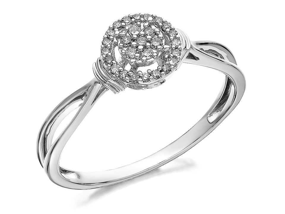 9ct white gold cluster ring 12pts d7101 f