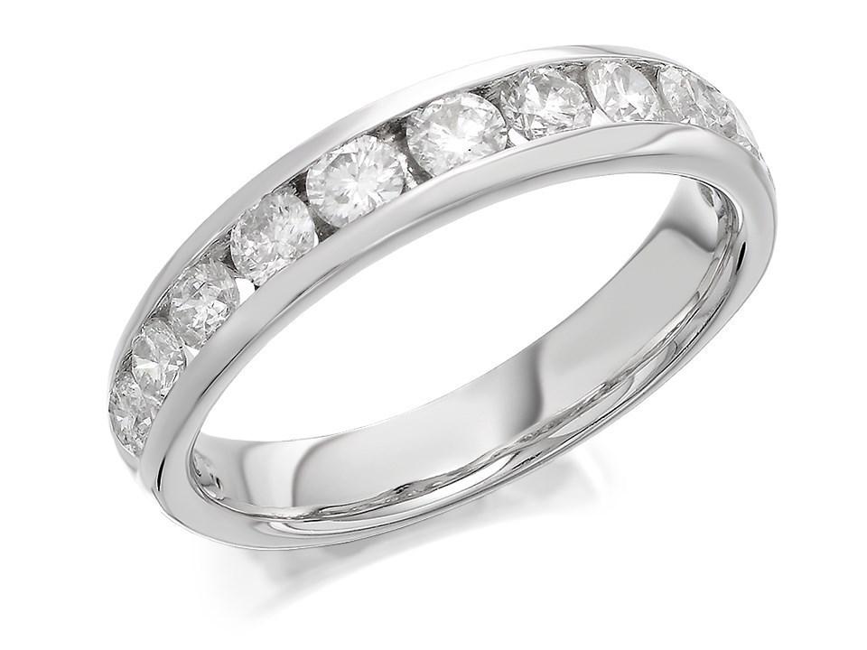 9ct white gold 1 carat half eternity ring d71107