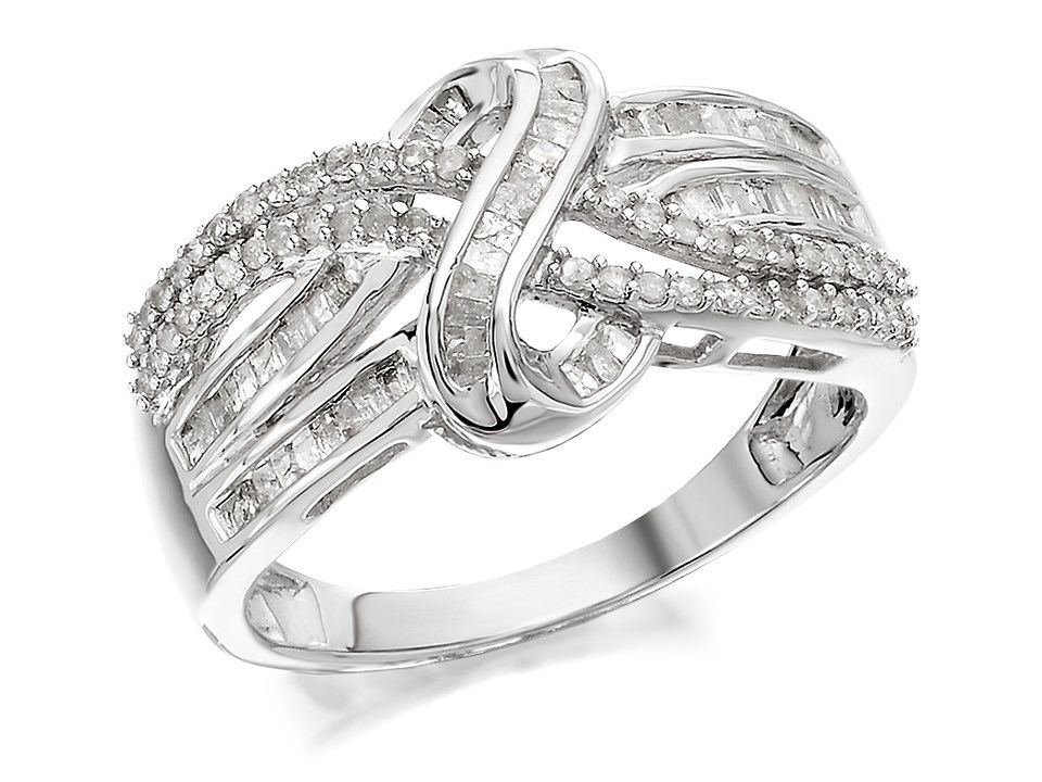 9ct white gold twisted band ring 1 2ct d7285 f hinds. Black Bedroom Furniture Sets. Home Design Ideas