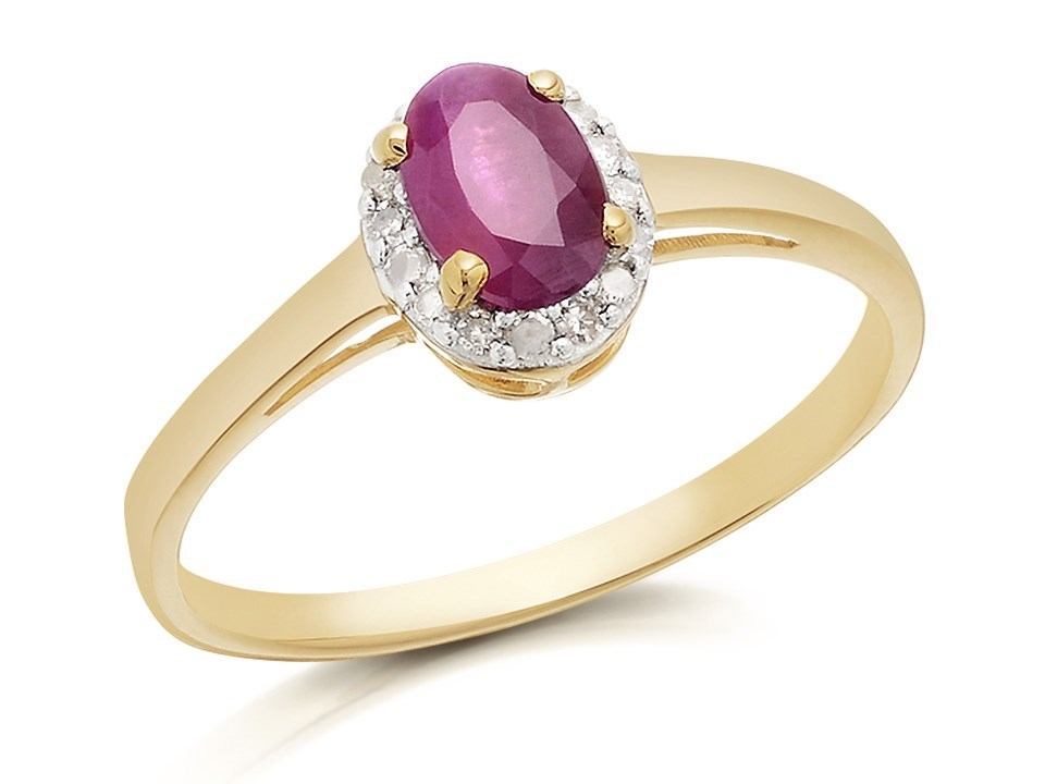9ct gold ruby and cluster ring d7417 f hinds
