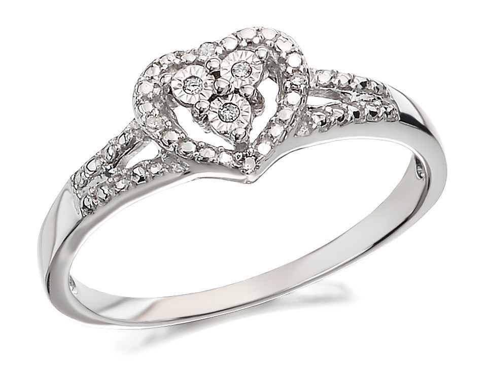 9ct white gold cluster ring d7771 m f