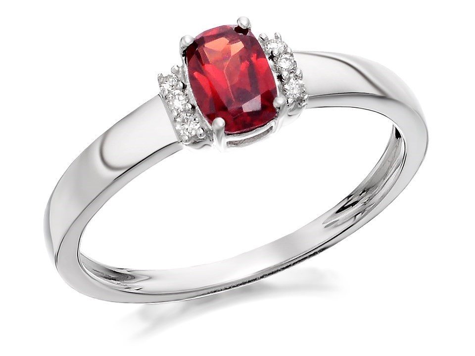 9ct white gold garnet and ring d7912 f hinds