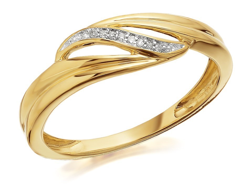 9ct gold wave ring d8039 f hinds jewellers