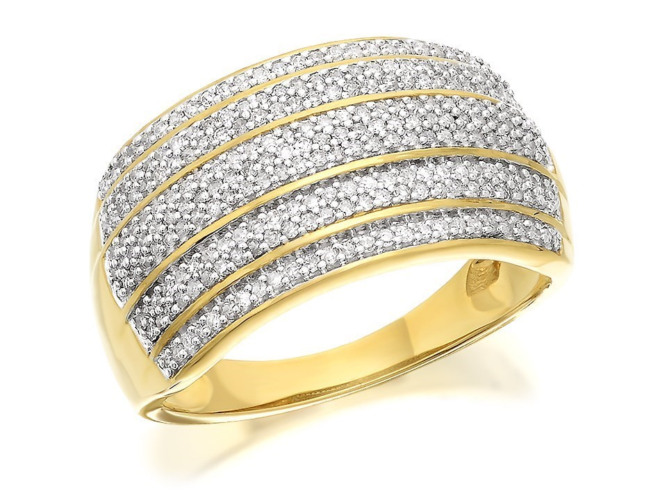 diamond ladies wide gold band gabriel bands white ring