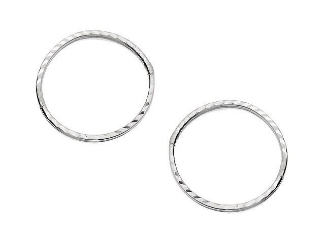 how to put in hinged hoop earrings